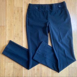 Candie's pinstripe dress pants black 7